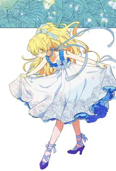 look at my rooster all grown up sauce: Who made me a princess Anime Girl Dress, Manga Girl, Anime Art Girl, Chica Anime Manga, Anime Cat, Kawaii Anime, Beautiful Anime Girl, Anime Love, Blonde Hair Anime Girl