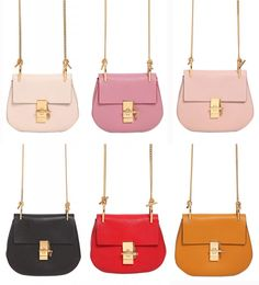 Shop the new Spring Summer 2015 #Chloé mini Drew leather shoulder bag in every color before anyone else #ss15 #bag #bags - LaiaMagazine
