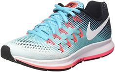 Nike Women's Air Zoom Pegasus 33 Running Shoe, Blue (8)