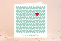 One and Only Valentine's Day Greeting Cards by Caroline Sluys at minted.com