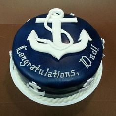 Anchor Cake with Fondant picture only My Cupcakes Cakes