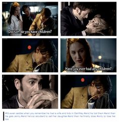 The Doctor's children. Let's all stab ourselves in the hearts, shall we?