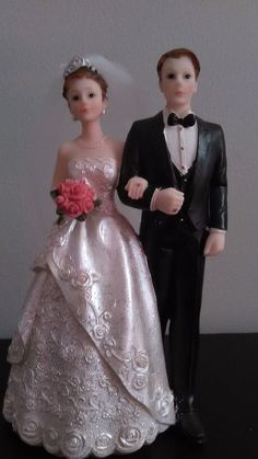 Romantic Vintage Wedding Bride and Groom Cake Topper BRAND NEW #WeddingCollectibles