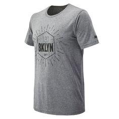 New Balance 71631 Men's Brooklyn Half Run Tee - Grey (MT71631VGRY)