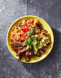 Carne Asada Burrito Bowl Mexican Dishes, Mexican Food Recipes, Beef Recipes, Cooking Recipes, Healthy Recipes, Ethnic Recipes, Entree Recipes, Carne Asada Burrito, Grain Bowl