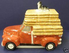 Retired Montana Silversmiths Truck w Dog Cookie Jar