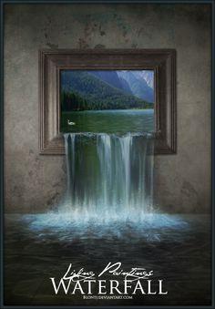 Living Paintings - Waterfall by blOntj.deviantart.com