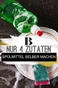 Spülmittel selber machen – aus nur 4 Zutaten Make detergent yourself – from only 4 ingredients. You can make your own detergent with just a few home remedies. This not only saves you money, but also protects the environment and your health. Diy Home Cleaning, House Cleaning Tips, Cleaning Hacks, Diy Home Crafts, Fun Crafts, Make Your Own, Make It Yourself, How To Make, Cleaning Schedule Printable