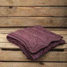 Alpaca shawl in rich pale burgundy. Smooth, warm and soft