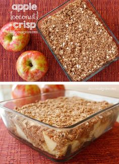 best holiday apple crisp recipe!! uses healthy coconut flour, coconut sugar, & coconut oil! healthy gluten-free dessert!