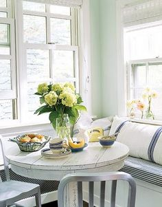 """Breakfast nook! I really wanted to do it when we built our house.  It's on our """"to do"""" list for sure.  I love this one!"""