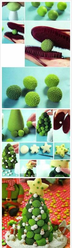 翻糖软陶黏土 Fondant Figures Tutorial, Fondant Toppers, Crea Fimo, Fimo Clay, Cake Decorating Techniques, Cake Decorating Tips, Decors Pate A Sucre, Christmas Crafts, Christmas Decorations