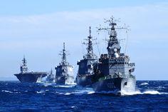 JMSDF Ships:「いずも」は転進して観閲付属部隊に合流! #1B