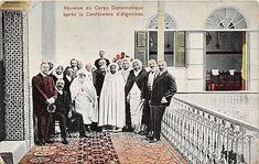 POSTCARD POLITICS ALGERIA Meeting of Diplomatic Delegations