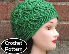 CROCHET HAT PATTERN Instant Download - Gaia Textured Beanie Hat Womens Fall Winter - Permission to Sell English Only