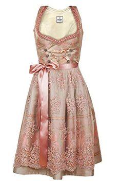 bb932ff0e712ed Edelnice Trachtenmode Bavarian Women's Designer Midi Dirndl Rosalie Dress  2-Pieces + Apron Size US2-US22 (52 (US22))