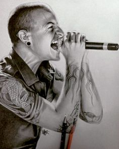The most detailed drawing of Chester Bennington I've seen so far! Hats off to the artist! I really love this! kslp
