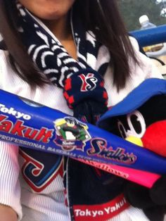"Rei Matsuzaki. She loves baseball and its Jaapese pro team ""Tokyo Yakult Swallows""."