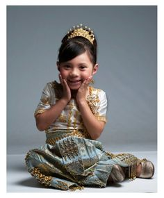 Cambodian dress- how adorable is she?!