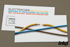 Electrician Business Card by inkddesign.deviantart.com on @deviantART