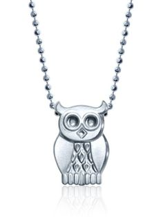"""Alex Woo Little Owl in Sterling Silver Pendant Necklace, 16"""" -"""