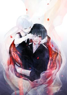 The child white ken kaneki and black ken kaneki has been awaken.