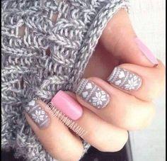 gray & light pink, swedish