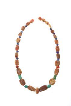 Amber necklace. Viking age.