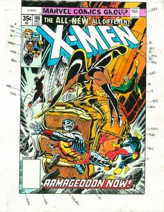 X-Men #108 color guide(1977) by Dave Cockrum.
