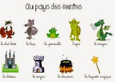 Le café de  Madame Dugot: Vocabulaire au pays des contes