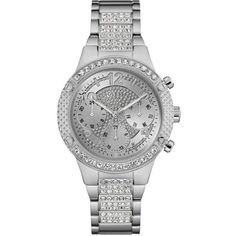 2cef91e1803 Guess Steel And Crystal Multifunction Watch (940 DKK) ❤ liked on Polyvore  featuring jewelry