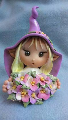 Polymer Clay Cake, Polymer Clay Fairy, Polymer Clay Figures, Polymer Clay Flowers, Polymer Clay Miniatures, Polymer Clay Charms, Clay People, Fairy Crafts, Clay Fairies