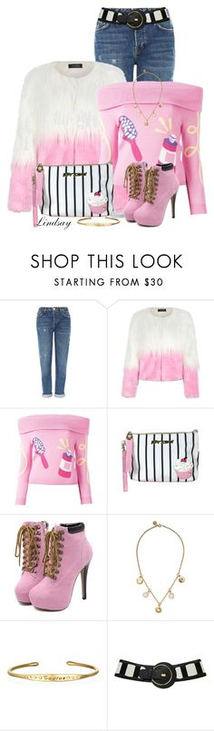 """""""Betsey Johnson Cupcake Large Pouch Wristlet"""" by lindsayd78 ❤ liked on Polyvore featuring Topshop, WithChic, Jeremy Scott, Betsey Johnson and Marc by Marc Jacobs"""