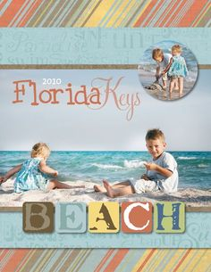 8.5 x 11 Beach Vacation Soft StoryBook Cover Scrapbook Project Idea