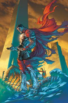 Superman by Michael Turner/Peter Steigerwald #Comics #Illustration #Drawing