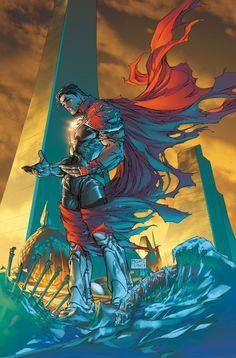 Superman by Michael Turner/Peter Steigerwald #Comics #Illustration #Drawing