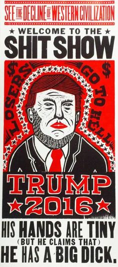 "Saatchi Art Artist Kevin Bradley Church of Type; Printmaking, ""Trump 2016 (Limited Edition 5 of 100)"" #art"