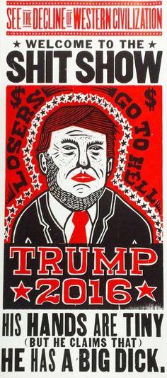 "Saatchi Art Artist Kevin Bradley Church of Type; Printmaking, ""Trump 2016 (Limited Edition 5 of 100)"" #art"