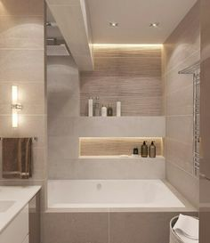 Bathroom decor for the master bathroom remodel. Discover bathroom organization, bathroom decor ideas, bathroom tile a few ideas, master bathroom paint colors, and more. Bathroom Layout, Modern Bathroom Design, Bathroom Interior Design, Bathroom Ideas, Minimal Bathroom, Contemporary Bathrooms, Bathroom Designs, Bathroom Design Inspiration, Bad Inspiration