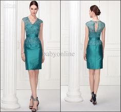 2014 Sexy V Neck Mini Short Sheath Mother Mother Of The Bride Dresses | Buy Wholesale On Line Direct from China