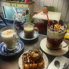 #Lait#noisette cannelle# #Affogato#pistache#  #Chocolat chaud#viennois# #à l'orange#