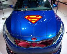 Superman Car Wrap Foil Vinyl Cover Vehicle Signage