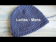 "(crochet) How To - Crochet a Simple Beanie for Ladies - Mens Size (22""-24"") - http://www.knittingstory.eu/crochet-how-to-crochet-a-simple-beanie-for-ladies-mens-size-22-24/"