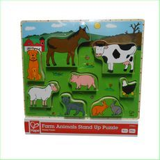 Hape Farm Animals Stand Up Puzzle - Green Ant Toys  6943478003712 http://www.greenanttoys.com.au/shop-online/baby-toddler-toys/farm-puzzle/