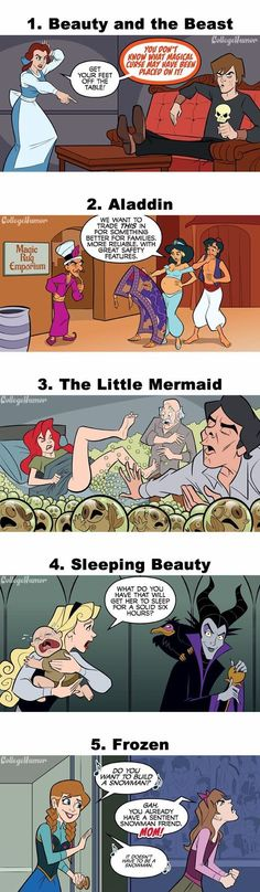 If Disney Characters Were Parents. Can't deal with that Little Mermaid one :') omg