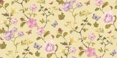 Un Bisou (310031) - Eijffinger Wallpapers - A pretty floral trail with butterfly's in a beautiful painted effect - showing in pink/purple and green on a pale lime green. other colour ways available. Please request a sample for true colour match. Paste-the-wall product.