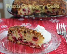 Fresh Cranberry Cake, a rustic cake that pops with fresh cranberries, best made a day ahead so perfect for potlucks and holiday gifts. One of Kitchen Parade's Best Recipes of 2013