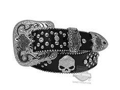 Harley-Davidson Womens Moonshine Western B&S Willie G Skull Black Leather Belt by LODIS - MD (8-10) Lodis http://www.amazon.com/dp/B00DZ3TLP4/ref=cm_sw_r_pi_dp_kyaUub0K18E0Y