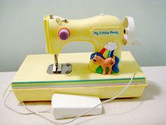 Vintage My Little Pony Sewing Machine. $20.00, via Etsy.