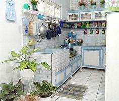 √ 27 Desain Dapur Kecil Minimalis Yang Artistik + Cantik !   Rumahpedia ® Home Interior Design, Interior Decorating, Kitchen Design, Kitchen Decor, Diy Kitchen Storage, Kitchen Sets, Minimalist Kitchen, Cabinet Design, Upcycled Furniture